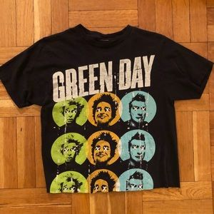Vintage cropped Green Day tee